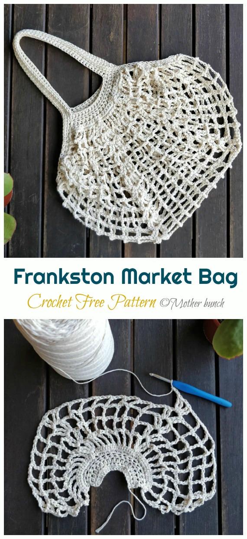 Frankston Market Bag Crochet Free Pattern - Trendy Free Market #Bag; #Crochet; Patterns
