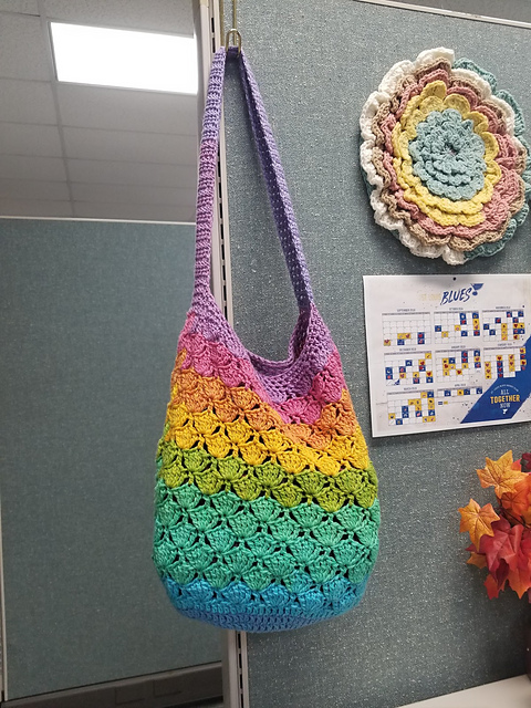 Mermaid Market Bag Crochet Free Pattern - Trendy Free Market #Bag; #Crochet; Patterns