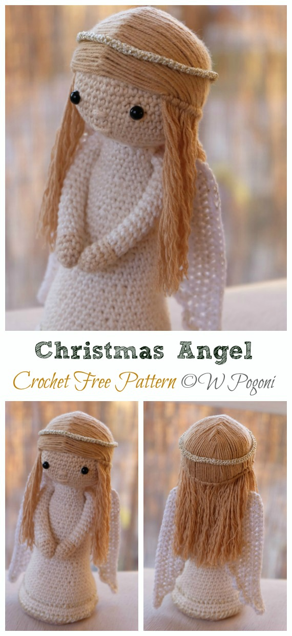 Crochet Amigurumi Doll Angel - Free Patterns | Crochet dolls free ... | 1240x570