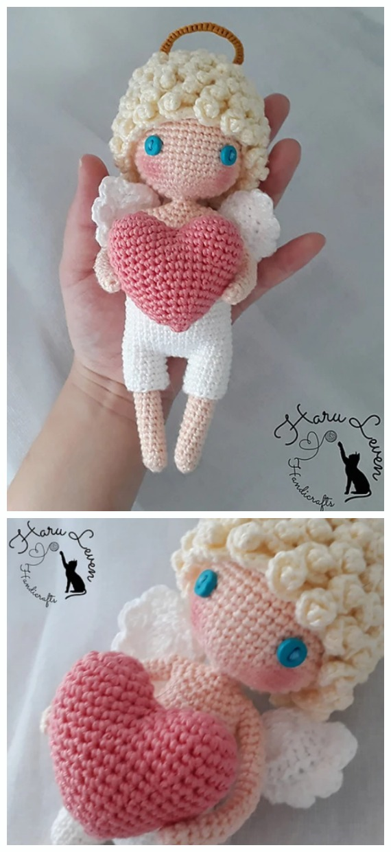 Easy Crochet Angel Amigurumi Free Pattern | 1240x570