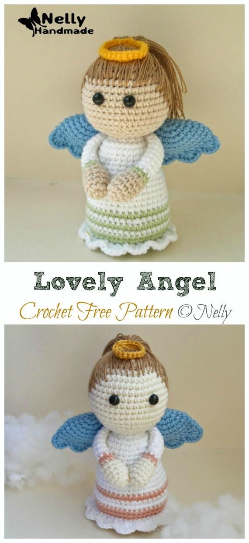 Crochet Lovely Angel Amigurumi Free Pattern - #Amigurumi; #Angel; Doll Crochet Patterns