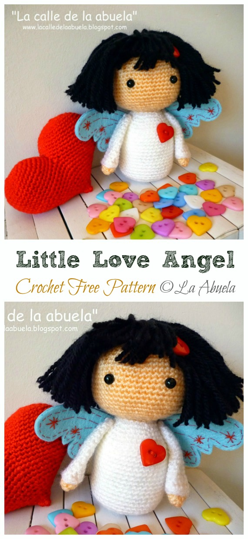Crochet Little love Angel Amigurumi Free Pattern - #Amigurumi; #Angel; Doll Crochet Patterns