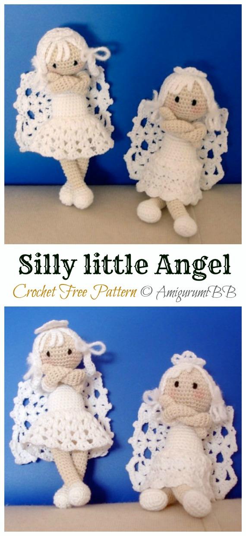 Crochet Silly little Angel Amigurumi Free Pattern - #Amigurumi; #Angel; Doll Crochet Patterns    Crochet Silly little Angel Amigurumi Free Pattern - #Amigurumi; #Angel; Doll Crochet Patterns