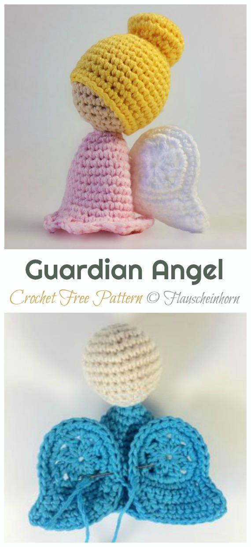 Crochet Guardian Angel Amigurumi Free Pattern - #Amigurumi; #Angel; Doll Crochet Patterns