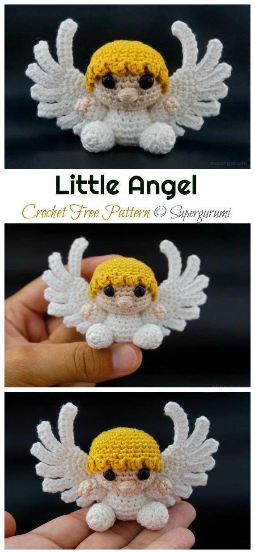 Crochet Little Angel Amigurumi Free Pattern - #Amigurumi; #Angel; Doll Crochet Patterns