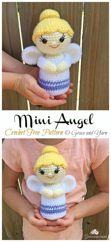 Mini Angel Amigurumi Free Pattern - #Amigurumi; #Angel; Doll Crochet Patterns