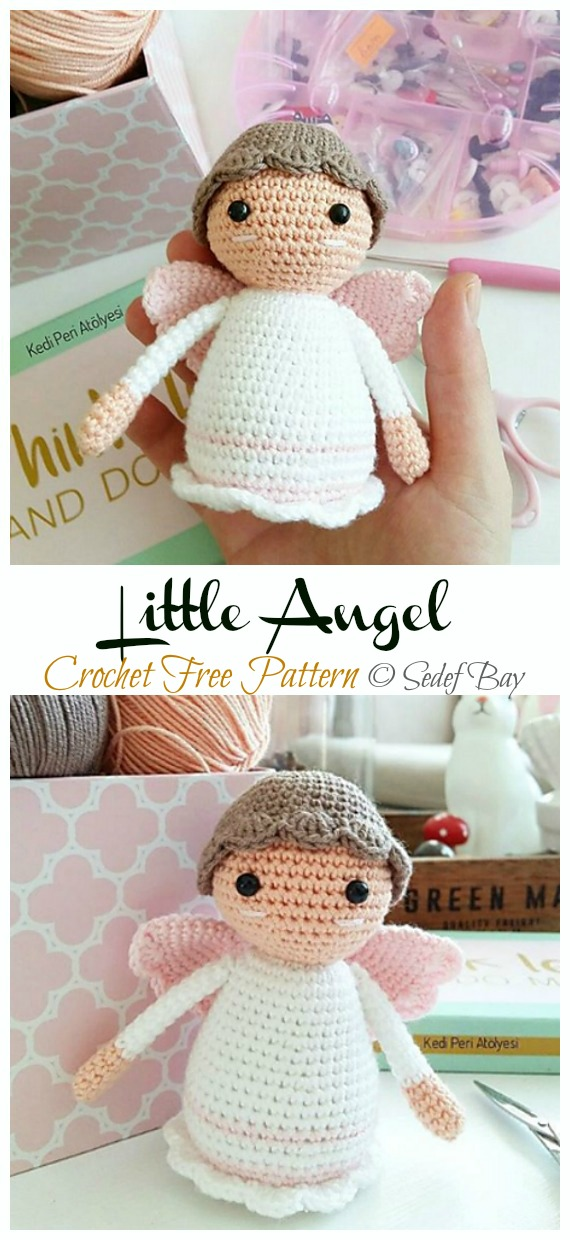 Free Crochet Patterns | Free Crochet Pattern Angel Kokeshi • Free ... | 1240x570