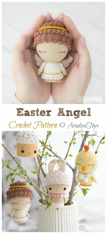 Crochet Easter Angel Amigurumi Pattern - #Amigurumi; #Angel; Doll Crochet Patterns