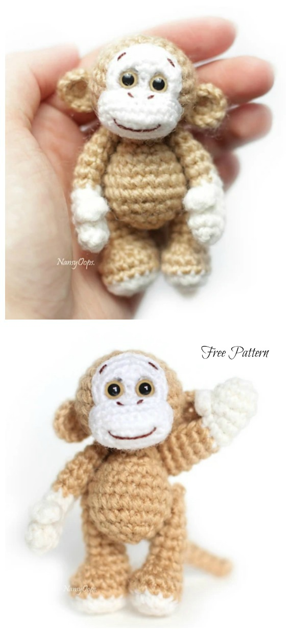 Crochet Little Monkey Amigurumi Free Pattern - #Amigurumi; #Monkey; Softies Crochet Free Patterns