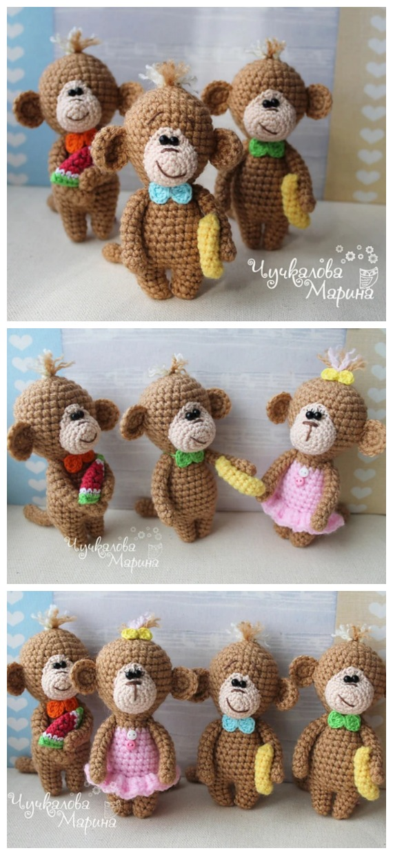 Crochet Mimi the Monkey Amigurumi Free Pattern - #Amigurumi; #Monkey; Softies Crochet Free Patterns