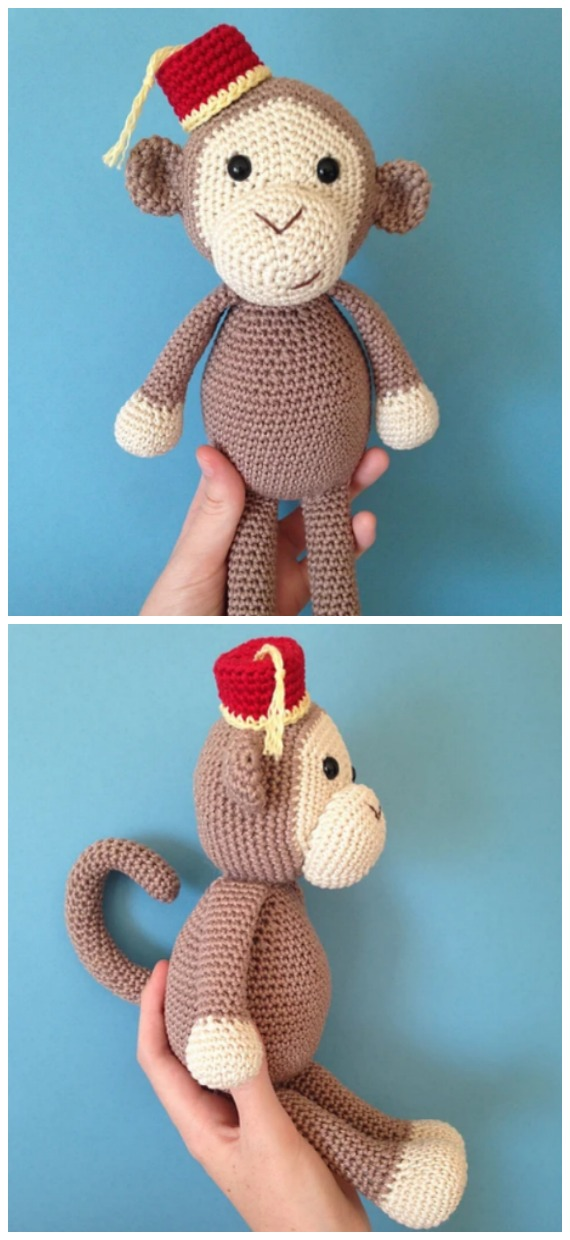 Crochet Cheeky Little Monkey Amigurumi Free Pattern - #Amigurumi; #Monkey; Softies Crochet Free Patterns