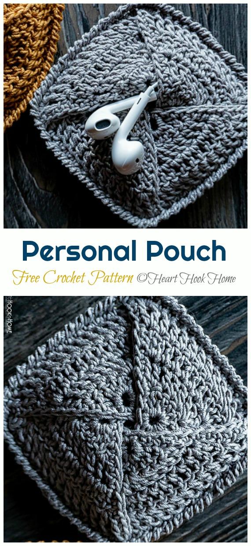 Personal Pouch Crochet Free Pattern - #Earbud; Pouch Free #Crochet; Patterns