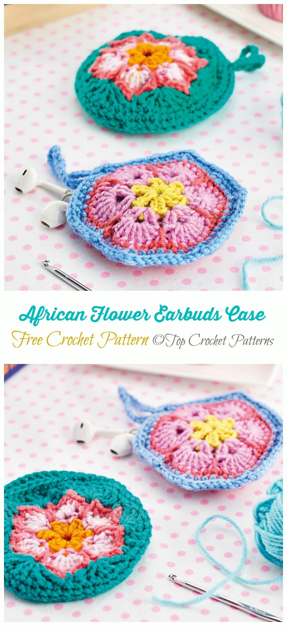 Earbuds Case Crochet Free Pattern - #Earbud; Pouch Free #Crochet; Patterns