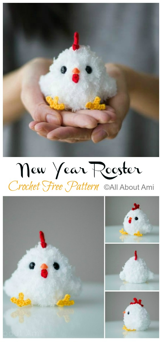 Chinese New Year Rooster Amigurumi Free Pattern - #Amigurumi; Easter #Rooster; Crochet Free Patterns