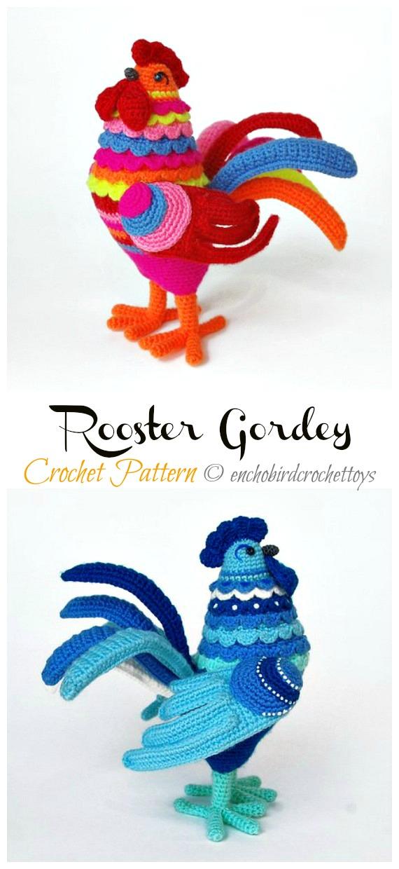 Crochet Rooster Gordey Amigurumi Pattern - #Amigurumi; Easter #Rooster; Crochet Patterns