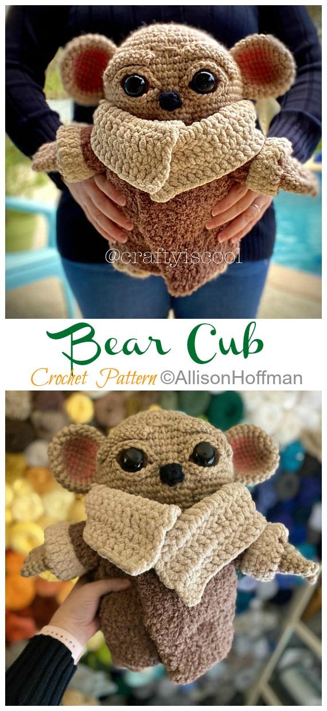 Crochet Bear Cub Baby Yoda Amigurumi Pattern - #Amigurumi; Star War #Yoda; Crochet Patterns