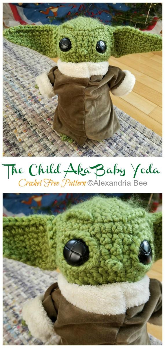 Crochet The Child Aka Baby Yoda Amigurumi Free Pattern - #Amigurumi; Star War #Yoda; Free Crochet Patterns
