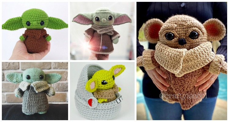 10 Amigurumi Yoda Crochet Patterns - Crochet & Knitting | 400x750