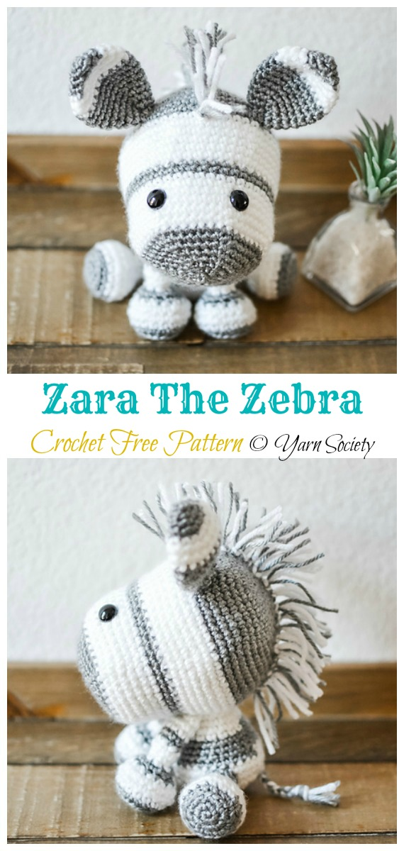 Crochet Zara The Zebra Amigurumi Free Pattern - #Amigurumi; #Zebra; Crochet Free Patterns