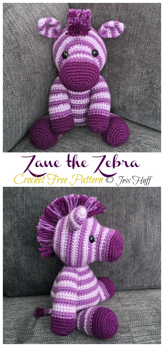 Crochet Zane the Zebra Amigurumi Free Pattern - #Amigurumi; #Zebra; Crochet Free Patterns