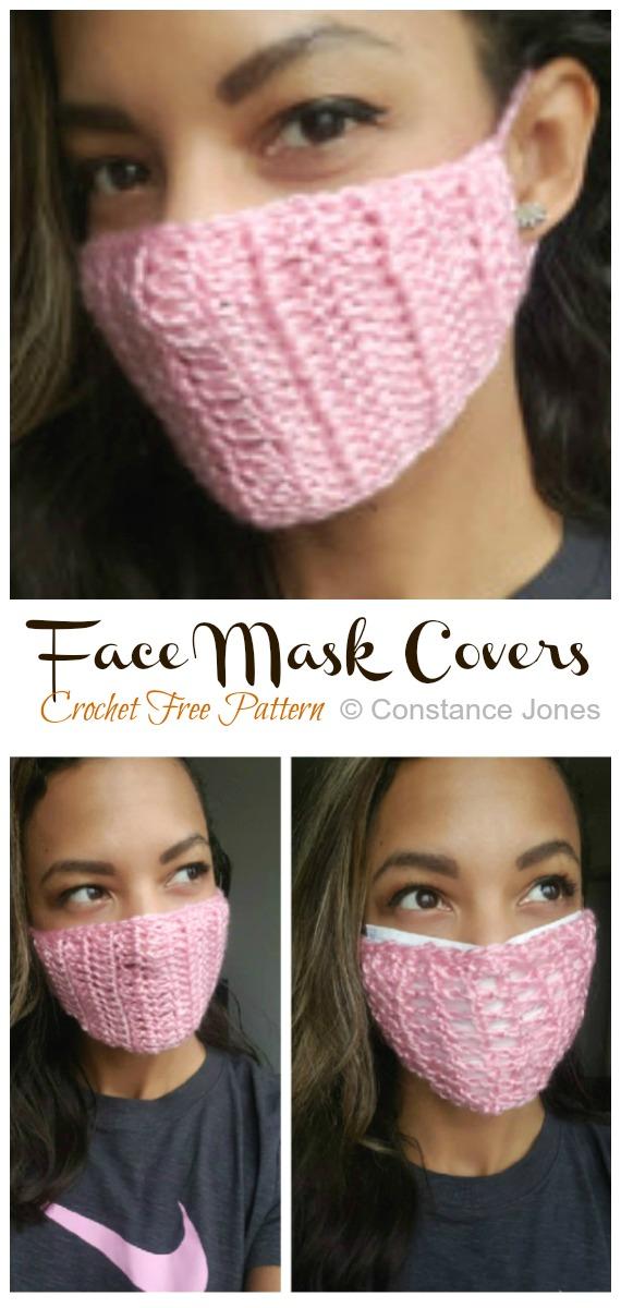 Mask Covers Crochet Free Pattern - Face #Mask; #Crochet; Free Patterns