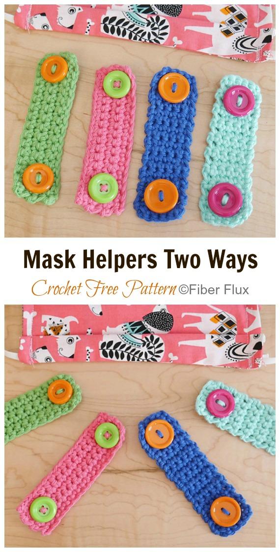 Crochet Mask Helper Free Pattern - Face #Mask; Straps Ear Saver #Crochet; Free Patterns