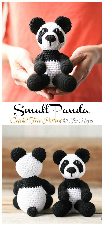 Crochet Small Panda Amigurumi Free Patterns- Amigurumi #Panda; Free #Crochet; Patterns