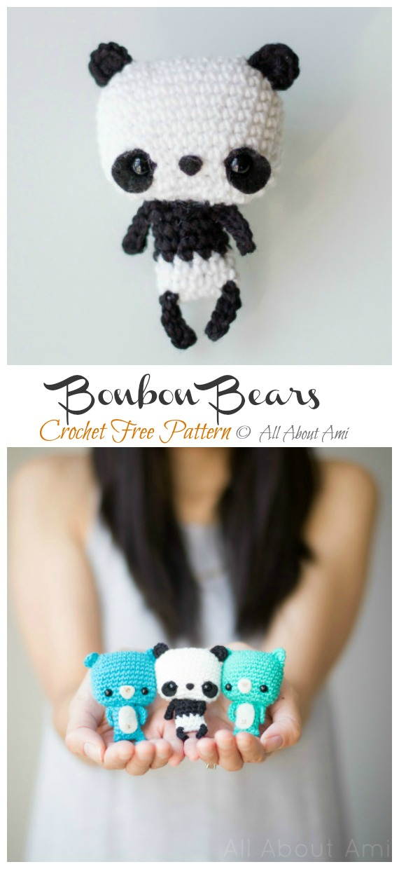 Panda Bear (English), PDF crochet bear pattern, cute crochet panda ... | 1240x570