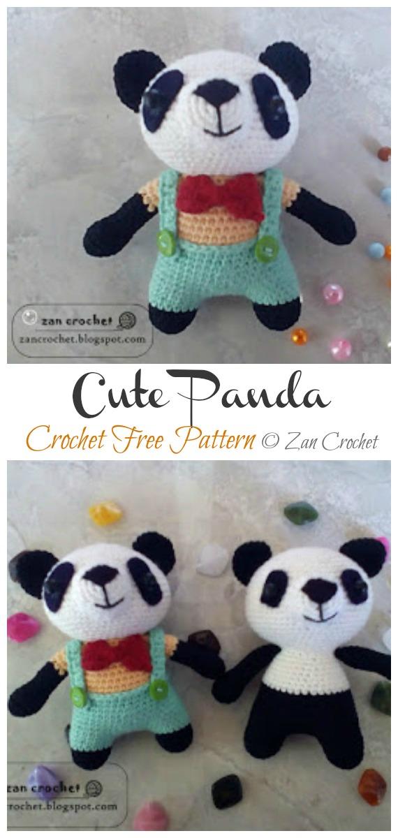Crochet Cute Panda Amigurumi Free Patterns- Amigurumi #Panda; Free #Crochet; Patterns