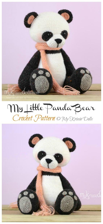 Crochet My Little Panda Bear Amigurumi Patterns- Amigurumi #Panda; #Crochet; Patterns