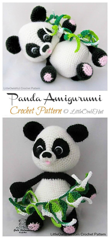 Craft Lotus: Panda (Free Amigurumi Pattern) | Crochet panda ... | 1240x570