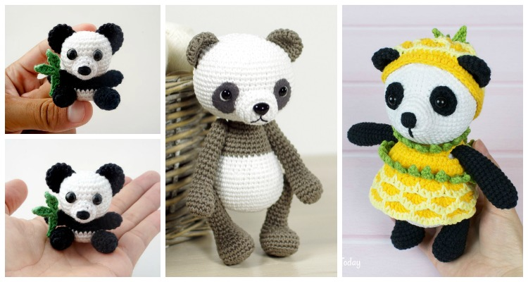 Super Cute Panda Crochet Patterns You Will Love | The WHOot | 400x750