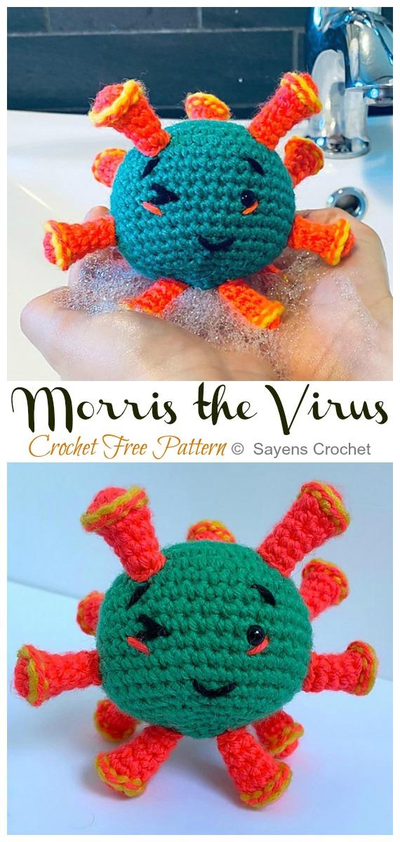 Amigurumi Morris Corona Virus Crochet Free Patterns