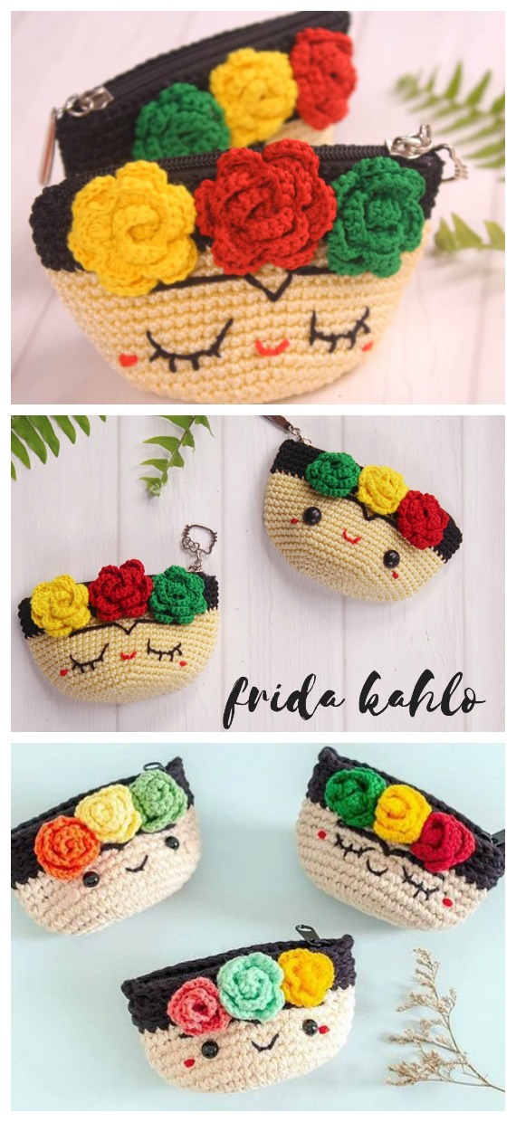 Frida Pouch Free Crochet Pattern - #Frida; #Crochet; Free Patterns