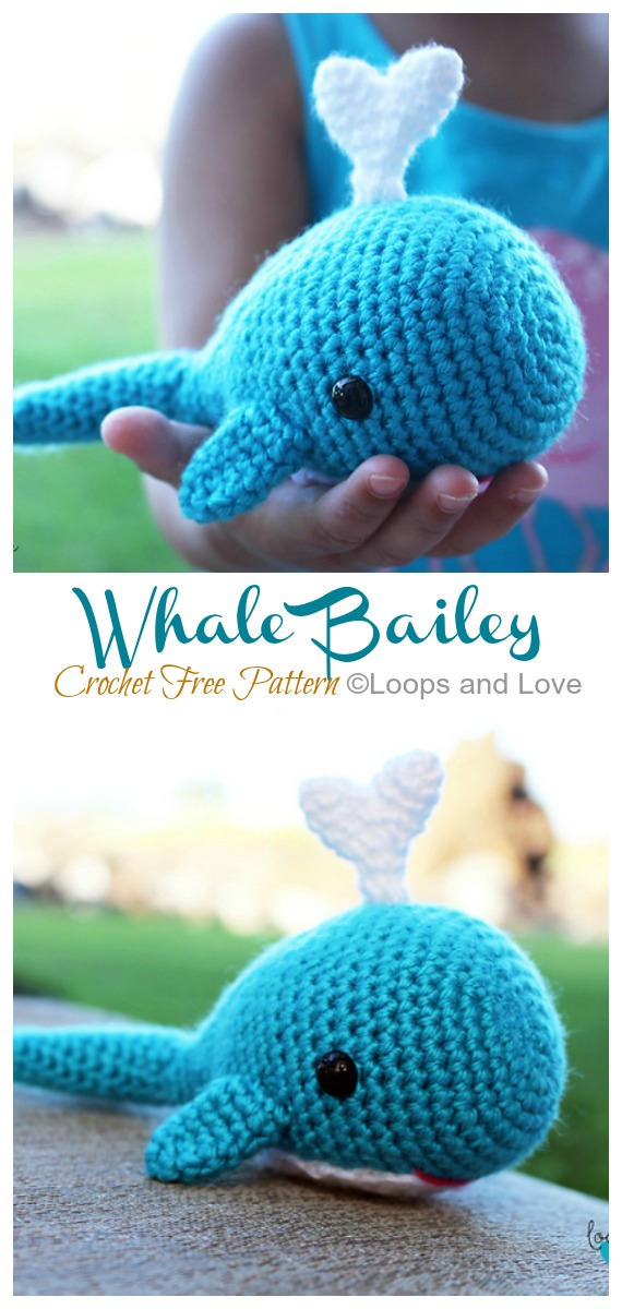 Blue Whale Free Crochet Pattern by Elisa's Crochet | 1200x570