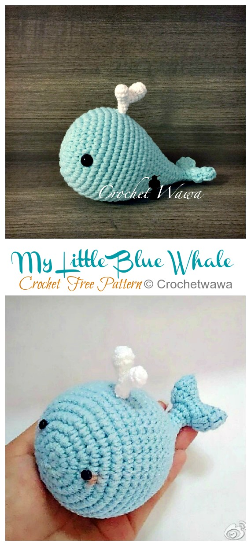 Cute Amigurumi Whales Free Crochet Patterns | 1240x570