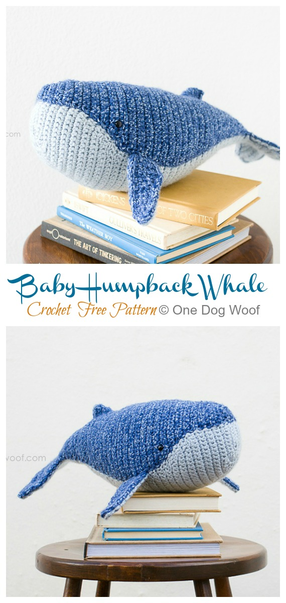 Tiny Whale Amigurumi Free Crochet Patterns, little baby whale | 1200x570