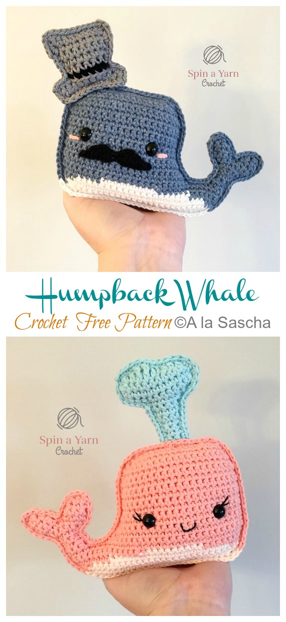 Crochet Humpback Whale Amigurumi Free Pattern - #Amigurumi; Toy #Whale; Crochet Free Patterns