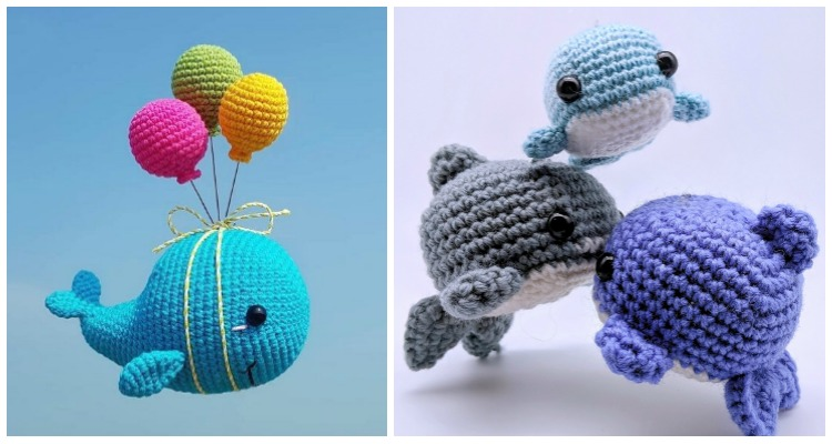 Blue Whale and Narwhal amigurumi patterns - Amigurumi Today | 400x750