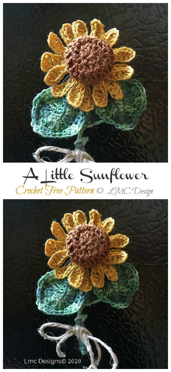 A Little Sunflower Amigurumi Free Pattern - Amigurumi #Sunflower; #Crochet; Free Patterns