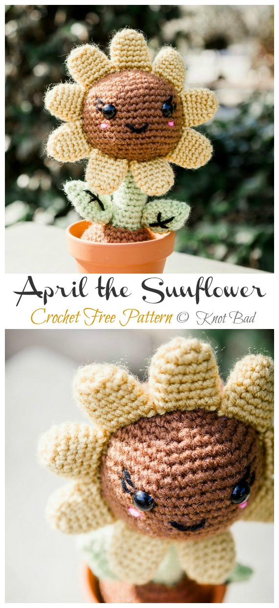 Crochet Sunflower | HappyBerry | 1240x570