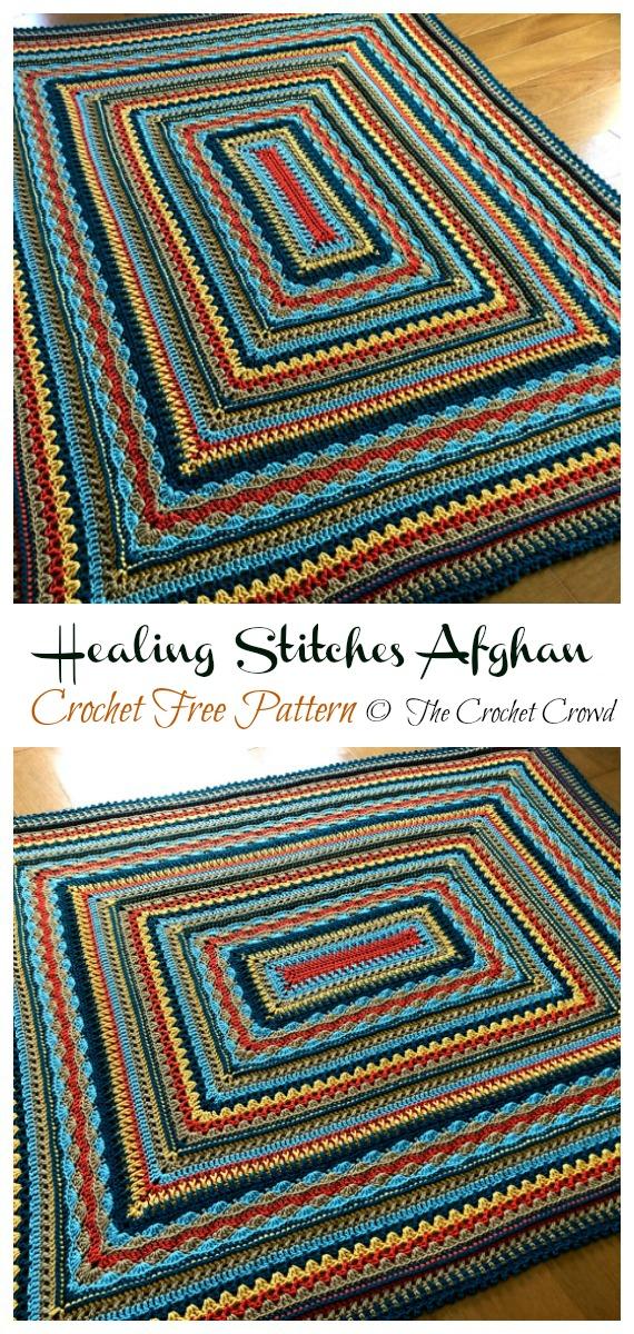 Healing Stitches Afghan Crochet Free Pattern - Yarn #Buster; #Blanket; Free Crochet Patterns