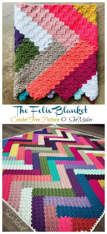 The Felix Blanket Crochet Free Pattern - Yarn #Buster; #Blanket; Free Crochet Patterns