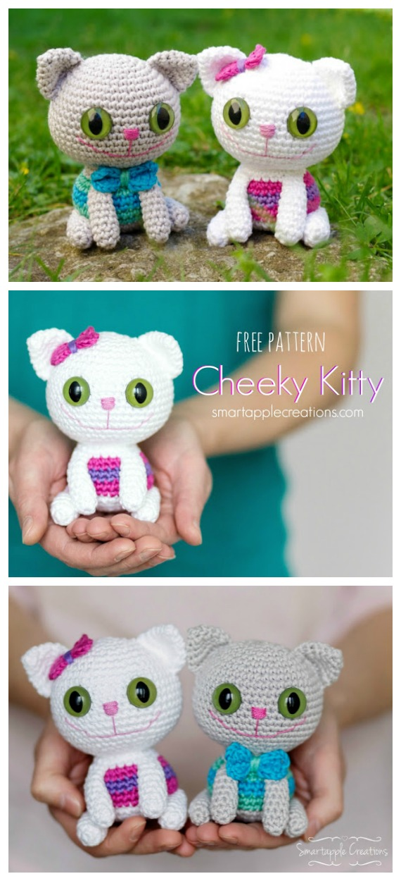 Crochet Cheeky Kitty Amigurumi Free Pattern - #Amigurumi; #Cat; Softies Free Crochet Patterns