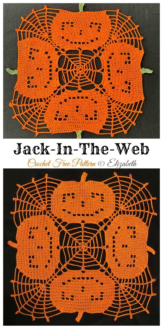 Jack-In-The-Web Doily Free Crochet Pattern - #Halloween; Doily Crochet Free Patterns
