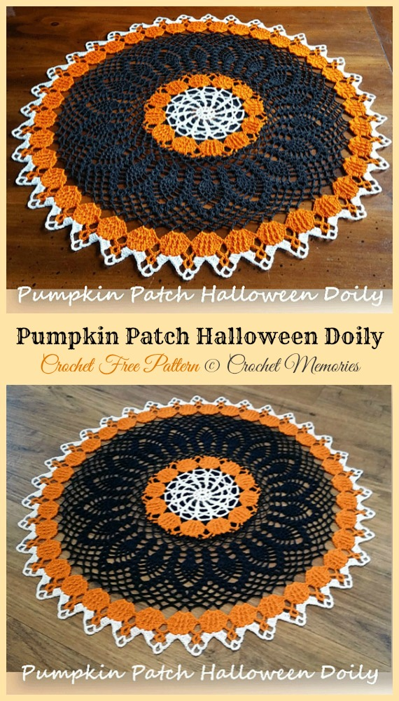 Pumpkin Patch Halloween Doily Free Crochet Pattern - #Halloween; Doily Crochet Free Patterns