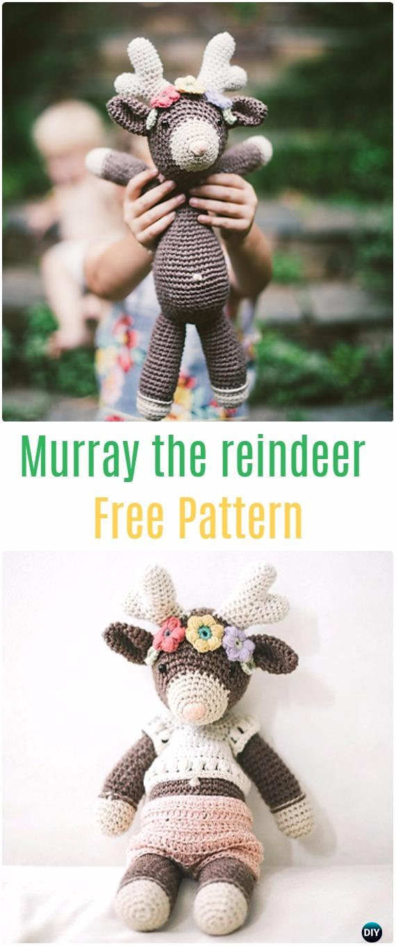 Free Crochet Moose and Crochet Reindeer Pattern ... | 1360x570