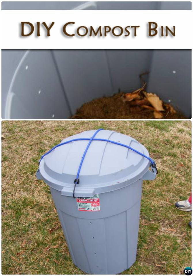 Diy Garbage Can Compost Bin Instruction 12 Simple Projects