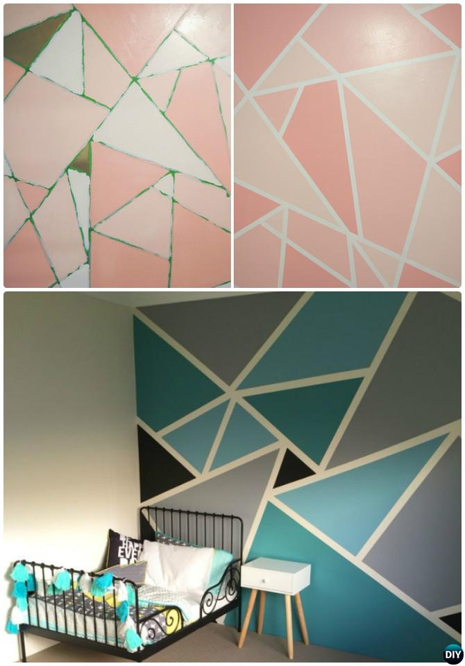 Diy Geometric Mosaic Wall Painting Instruction Ideas Techniques Tutorials