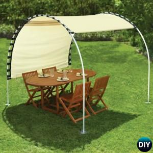 DIY Outdoor Suntracking PVC Canopy